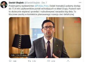 Obajtek, Twitter