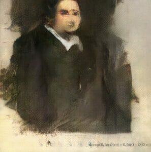 Stworzony przez AI portret Edmonda Bellamy