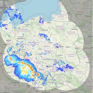Mapa pogody Instytutu Meteorologii i Gospodarki Wodnej